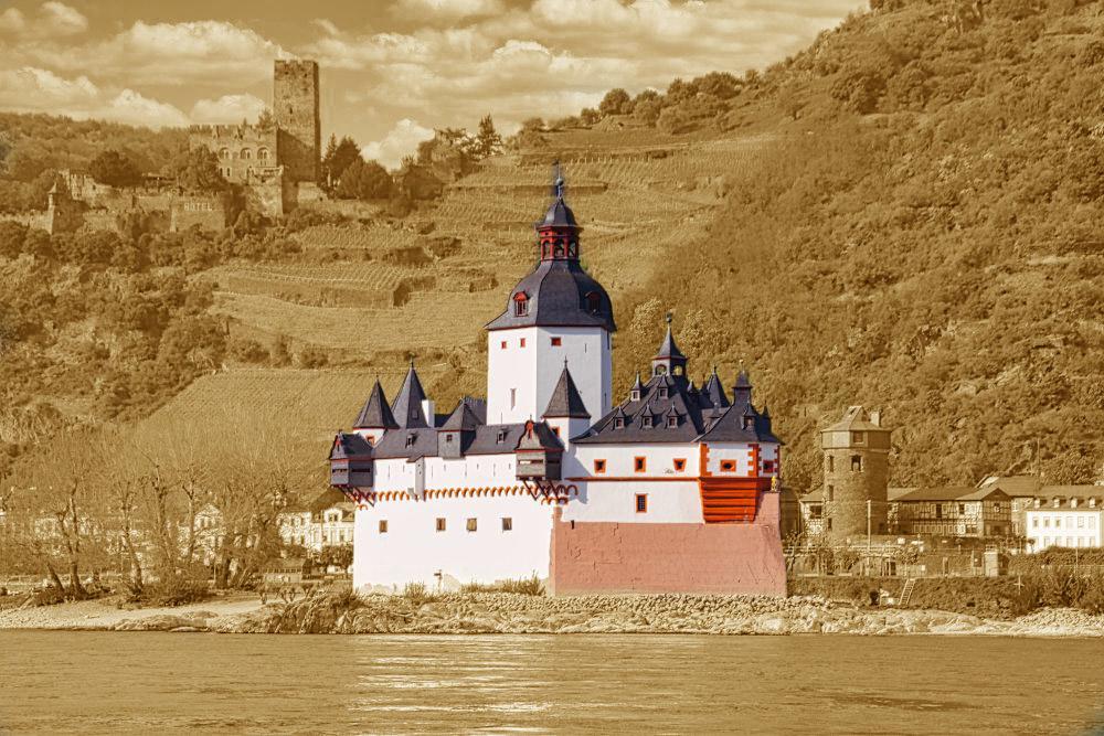Die Zollburg Pfalzgrafenstein bei Kaub