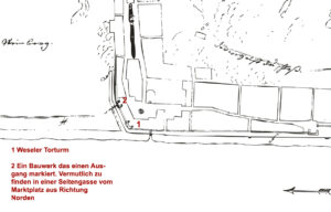 Stadtplan Kaub 1741